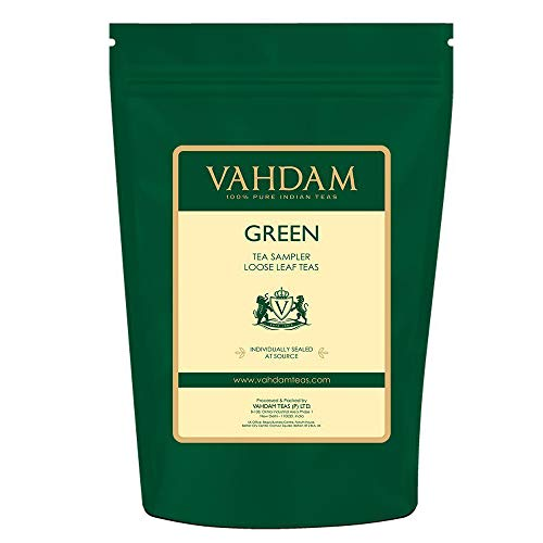 VAHDAM, Muestra de Té Verde - 10 TEAS, 50 PORCIONES | 100%