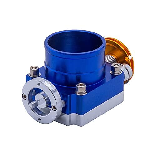LIUWEI 80mm Throttle Body Prestatie Inlaatspruitstuk Hoogstroom Inlaatgedeelte (Color : Blue)