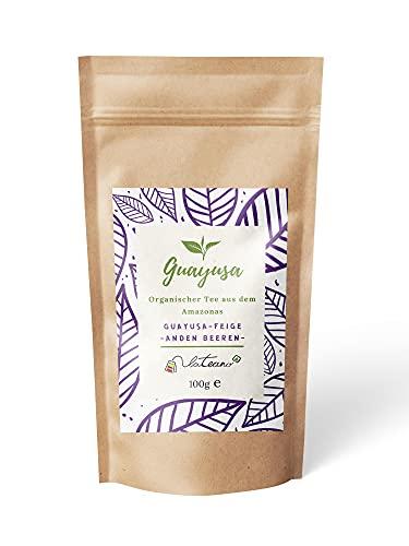 Lateano – Guayusa Tee lose organisch mit Feige, Blaubeere und Brombeere 100g – Energy Tea aus dem Amazonas für mehr Konzentration, Ausdauer & Leistung – die natürliche Alternative zu Kaffee