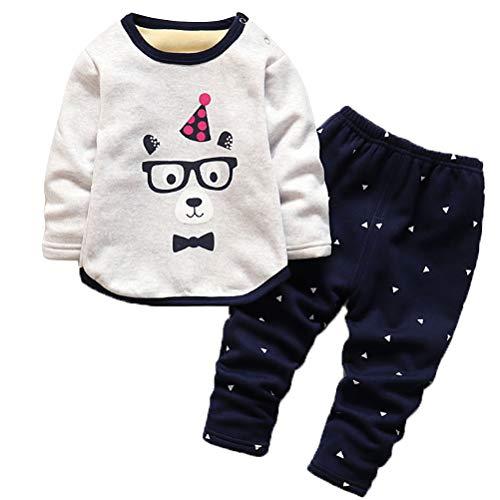 ARAUS ARAUS Baby Thermo-Unterwäsche Kleidungset Winter Schlafanzug Overall Unisex 0.5-4 Jahre A 0.5-1 Jahre