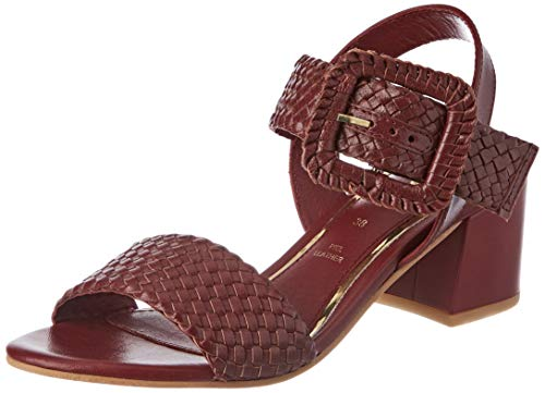 Gioseppo 48319, Zapatos de tacón con Punta Abierta para Mujer, Morado (Burdeos 000), 40 EU