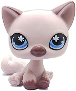 Lightly Purple Short Hair Cat, Rare LPS Toy Sparkle Action Figures Kids Toy Gift Littlest Pet Shop
