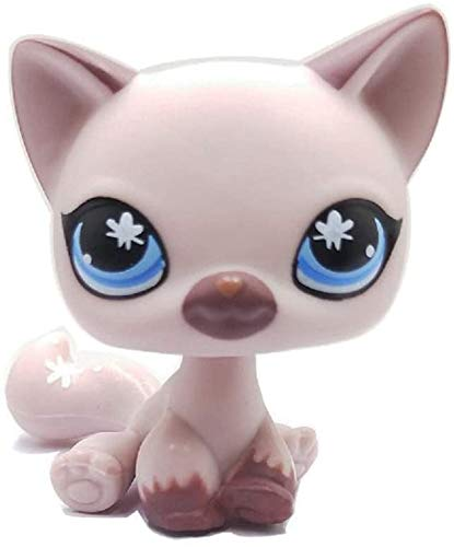 Greneric Lightly Purple Short Hair Cat, Rare LPS Toy Sparkle Action Figures Kids Toy Gift Littlest Pet Shop