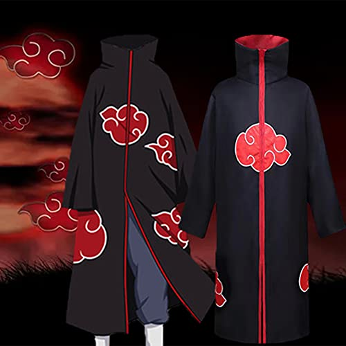 JQMAO Anime Disfraz de Cosplay Capa Larga Cosplay Domain Bata Fiesta Carnaval de Halloween de Navidad Unisex Cloak (Black, M-(Length 105))