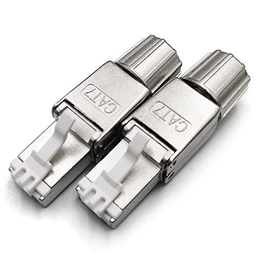 BRIEFCEC Conector de red RJ45, instalación rápida, sin herramientas, no requiere herramientas...