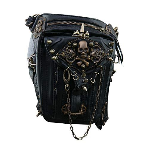 Pywee Steampunk Retro Motorrad Tasche Lady Bag Retro Rock Gothic Goth Schulter Gürteltasche Drop Leg Bag