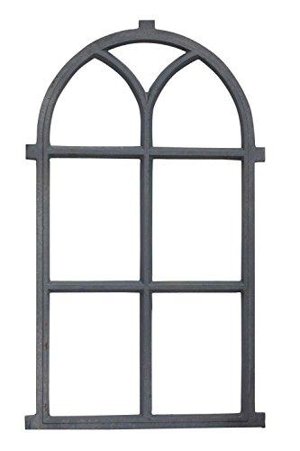 aubaho Stallfenster Fenster Scheunenfenster Eisen grau Eisenfenster 98cm Antik-Stil