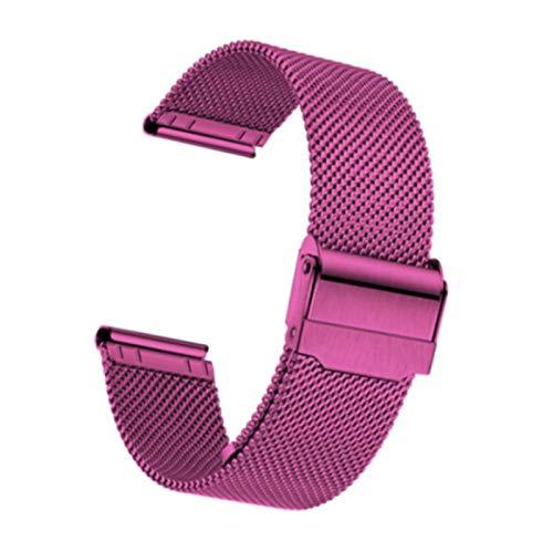Pulseras De Reloj De Acero Inoxidable De Malla Fina Correa De Reloj De Repuesto Ligera Correa De Metal Para Hombres Reloj De Mujer Elegir Ancho 10 Mm-24 Mm,Red-13mm