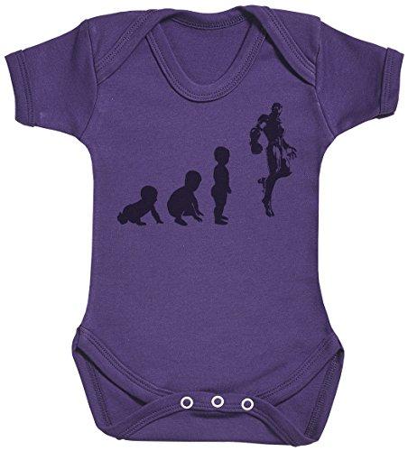 Baby Evolution to A Iron Man Body bébé - Gilet bébé - Body bébé Ensemble-Cadeau - Naissance Violet