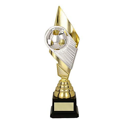 RaRu Großer Fussball-Pokal (30cm) mit Ihrem Wunschtext graviert
