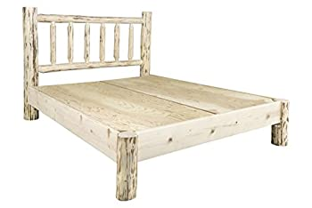 Montana Woodworks Montana Collection King Platform Bed Clear Lacquer Finish