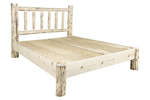 Montana Woodworks Montana Collection Queen Platform Bed, Ready to Finish