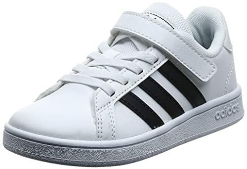 adidas Unisex Infantil Grand Court Sneaker, Cloud White/Core Black/Cloud White, 29 EU