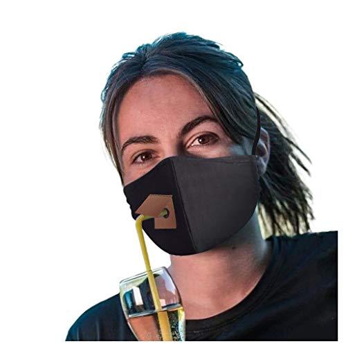 Humeng Erwachsene Frauen schützen staubdichtes Baumwollgesichtsgetränk mit Loch für Stroh Made in Germany