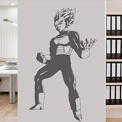 guijiumai Diseño de Arte Dragon Ball Etiqueta de La Pared de Vinilo Animado Kid Goku Película de Dibujos Animados Decoración del Hogar DIY Tatuajes de Pared para Niños Sala Rosa W58xH97CM