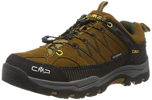 CMP Kids Rigel Low Shoes Wp Trekking-& Wanderhalbschuhe, Braun (Senape-Arabica 03pd), 35 EU