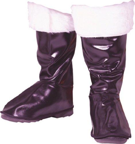 Santa Boot Tops Black and White