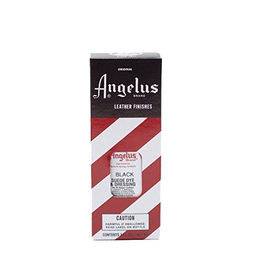 Angelus Suede Dye ist geeignet für Wildleder Nappaleder Nubukleder Leder färben Lederfarbe verschiedene Farben 88 ml (Schwarz)