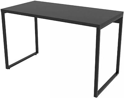Mesa para Escritório Office Estilo Industrial 120cm Kuadra Compace Preto Onix