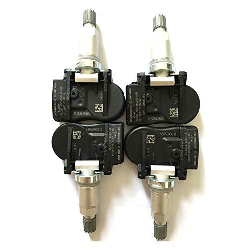 Iinger 9673198580 5430T4 5430.T4 Sensor de presión de neumáticos Ajuste para Peugeot 207 307 407 508 607 807 1007 Fit para Citroen C4 C5 C6 C8 (Color : 4pcs)