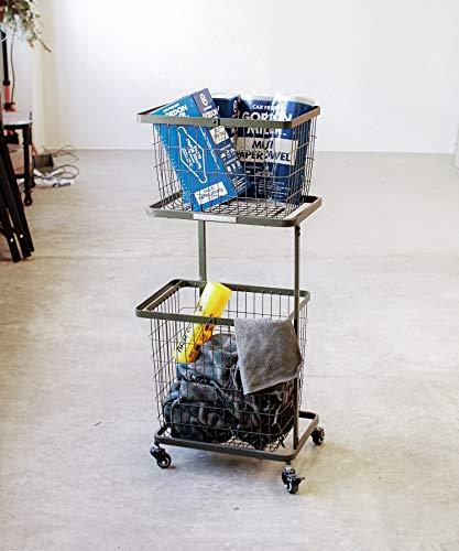 GORDON MILLER BASKET WAGON SET バスケットワゴンセット 家具 ガレージ キャスター付 カーキ ランドリー バスケット ワゴン 収納 かご 浴室収納 キッチンワゴン おしゃれ 1565257