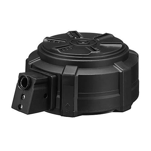 XFC-DANJIA, Cargador de Tambor for JINMING MP5 Gel Bola de voladura Gu N Accesorios de reemplazo de plástico de Agua Pistola Revista Negro Clip