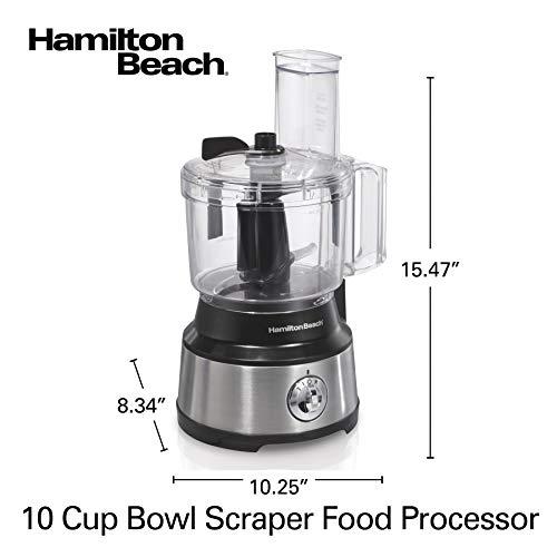 Hamilton Beach (70730) Food Processor & Vegetable Chopper with Bowl Scraper, 10 Cup, Electric