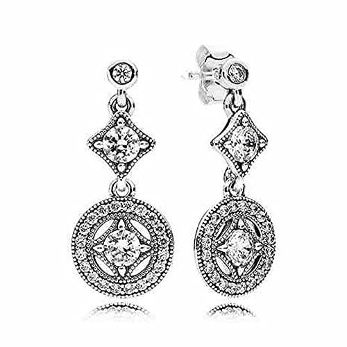 LIUBAOBEI Damen-Ohrstecker,Tröpfchen Zusammenfassung 925 Sterling Silber Hängende Ohrringe, Frauen Hochzeitsfeier Geschenk Schmuck-D190