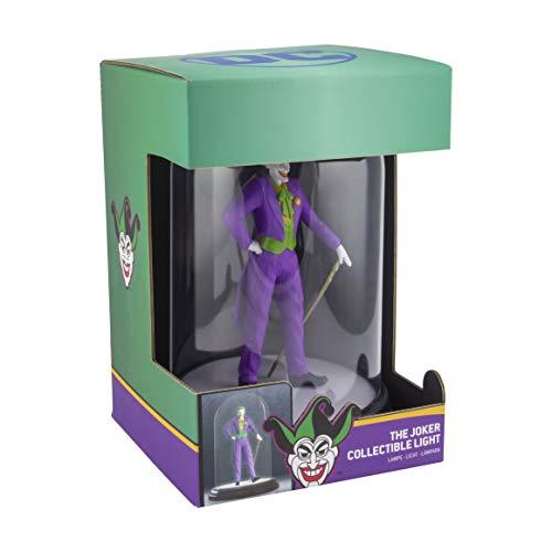 DC Comics Joker LED-Glaskuppel-Leuchte lila/grün, 100% Kunststoff, in Geschenkbox, Mehrfarbig, 20 cm