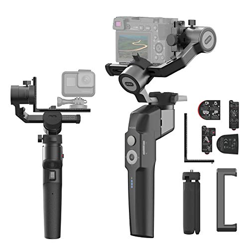 MOZA Mini P Smartphone Gimbal Stabilizer, Foldable 3 Axis for Mirrorless Cameras, Action Cameras Compatible with Sony a6300 a6600 A7R3 RX100 III, Gopro 8 7 6 5, DJI Osmo