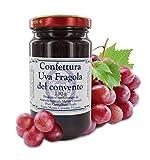 Marmellata di UVA Fragola del convento dei Frati Carmelitani Scalzi - Vasetto 230 gr (Confezione da 6 Pezzi)