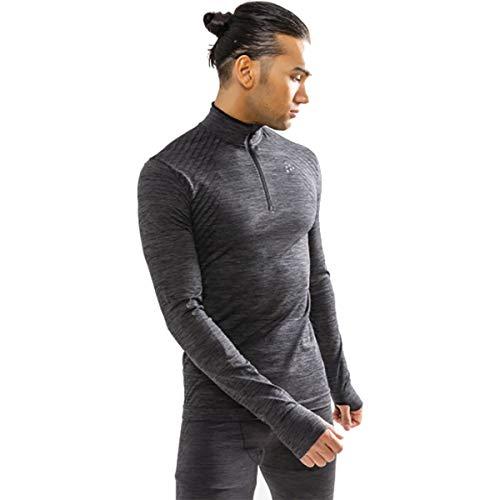 CRAFT T-Shirt Manches Longues Col Zippé Fuseknit Comfort
