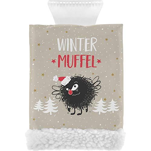 Happy Life 49809 Eiskratzer Handschuh mit Fleecefutter, Wintermuffel, Grau
