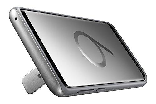 Samsung EF-RG965CSEGUS Galaxy S9+ Rugged Military Grade Protective Case with Kickstand, Silver