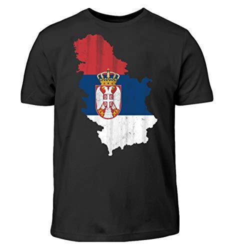 Serbien Srbija Fussball Nationalmannschaft Soccer Flagge Serbisches Trikot Landkarte - Kinder T-Shirt