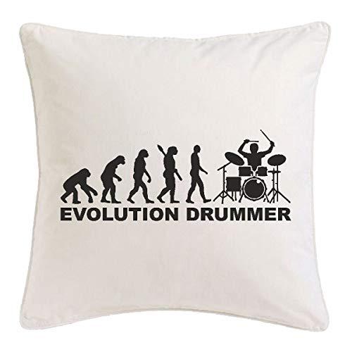 Reifen-Markt Kissenbezug 40x40cm Schlagzeuger - Drummer - Rockband - Musikband - GUGGE Musik aus Mikrofaser in Weiß