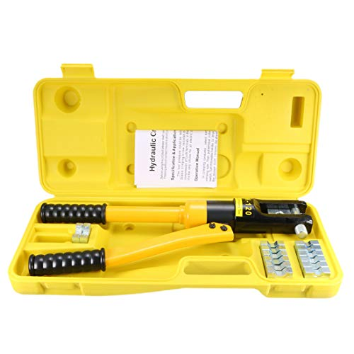 uxcell 8 Ton Hydraulic Wire Cable Lug Terminal Crimpers Crimping Tool 8 Dies YQK-120