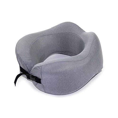 Almohada de viaje en forma de U para dormir coche vuelo de aire almohadas de espuma inflables apoyo cuello reposacabezas cojín suave