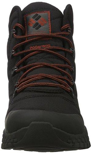 Columbia Men's Fairbanks Omni-Heat Snow Boot, Black, Rusty, 10.5