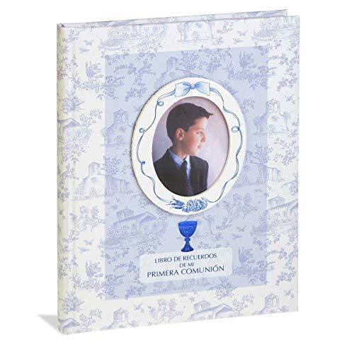Busquets Libro comunion con paspartu Flores Azul by