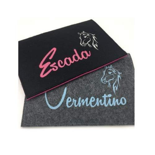 Equidenpass Hülle Pferdepass Hülle Tasche Case Etui Pferd | aus Filz | Handarbeit | verschiedene Designs | Personalisierbar mit Name