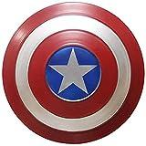 LYMHGHJ Escudo Capitan America Metal 1: 1 Legendary Series Movie Props SuperhéRoe Retro Disfraz Escudo Halloween Adultos Y NiñOs American Shield Bar DecoracióN, 3 TamañOs