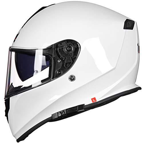 Unisex Adulto Tanque Casco de la Motocicleta Antifogging de Doble Lente Cascos integrales para Todas Las Estaciones XXXL 64 cm