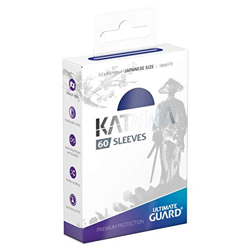 Ultimate Guard Matte Blue Katana Sleeves Japanese Size 60ct Standard Size 100 ct Card Sleeves Individual Pack