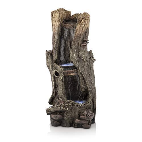 Alpine Corporation 104 cm Tall Outdoor Rainforest Waterfall Tree Trunk...