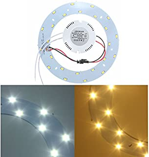 DADEQISH Tablero de lámparas de Techo anular de 12W 5730 SMD LED Panel Circle Luz Interior (Color : Warm White)