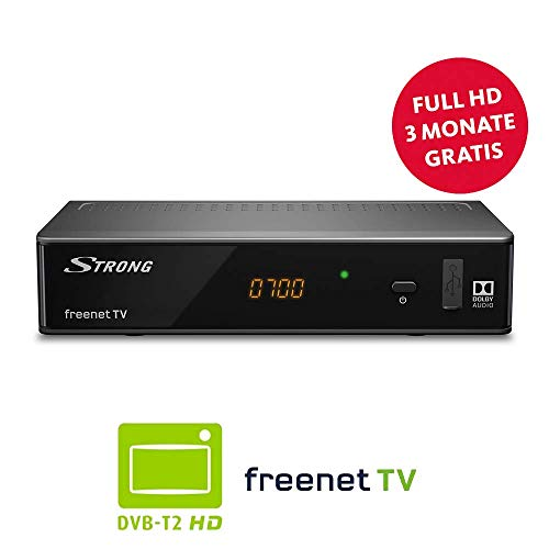 Strong SRT 8541 Ricevitore DVB-T2, Free-to-Air (HDTV, FHD, HDMI, LAN, SCART, lettore multimediale, USB, H.265)