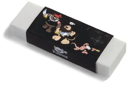 32748 - NICI - Pirates - Radiergummi Pirat, weiß mit Papierbanderole