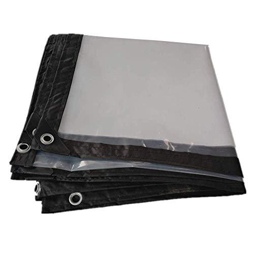 M-Y-L dekzeil transparant helder zeil waterdicht heavy duty voor tuin camping terras vloer folie afdekking 120 g / m2
