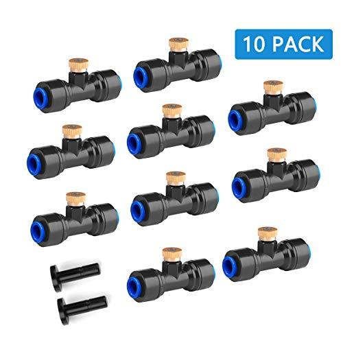 havit Boquillas de nebulización de latón, Paquete de 10, para Sistema de enfriamiento Exterior